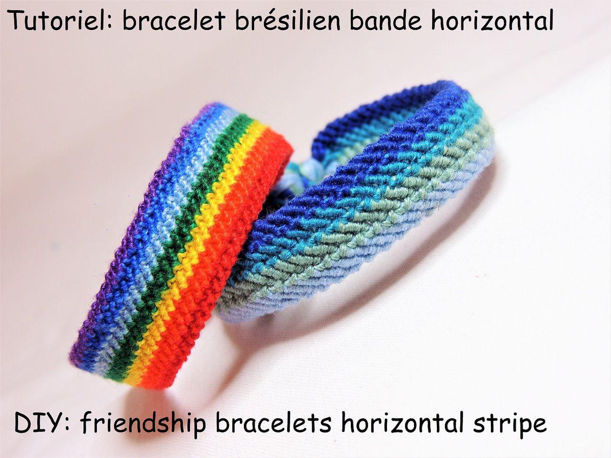 baskets pour pas cher choisir officiel qualité et quantité assurées Tutoriel et patron: bracelet brésilien bande horizontal ...