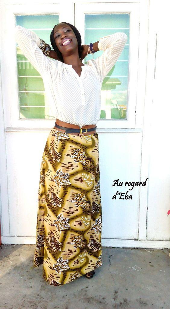 Longue jupe pagne