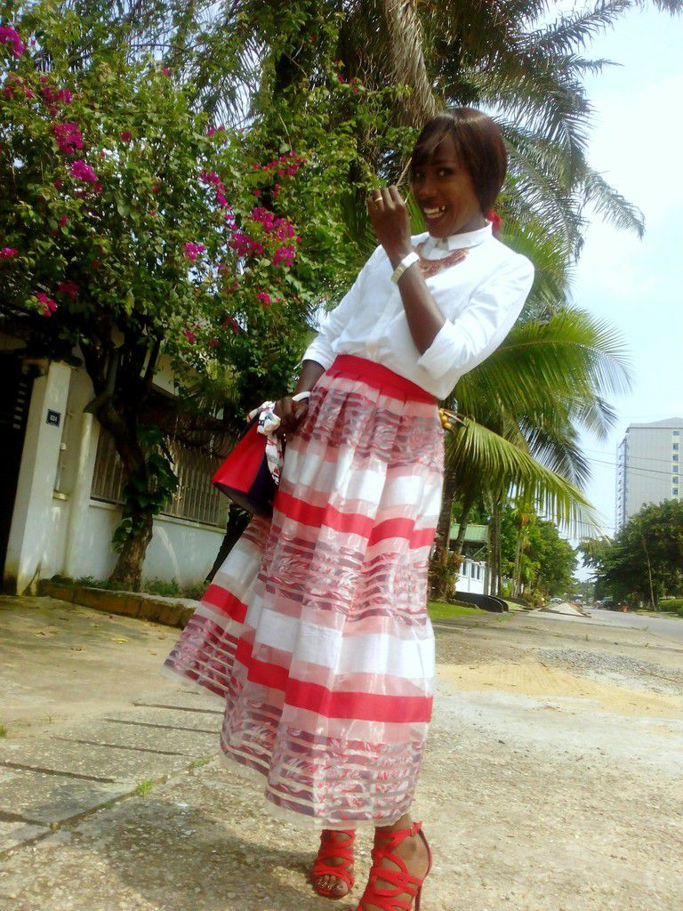 Shirt (G-STAR Women) - Skirt (MYRED) - Heels & Bag Scilva (ALDO) - Necklace (Douala's Market)
