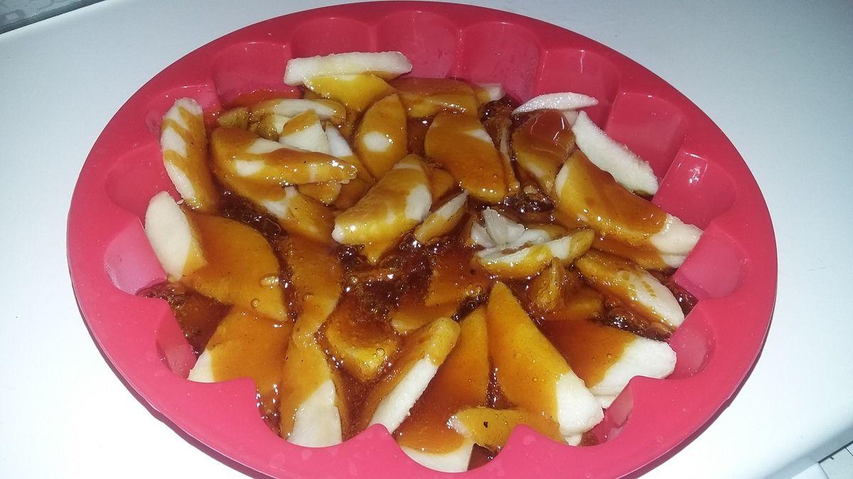 Gâteau renversé pomme poire
