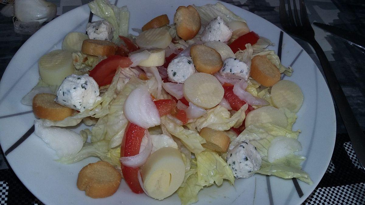 Salade iceberg au cœurs de palmiers