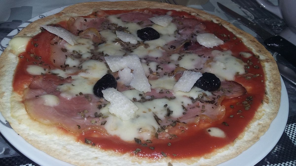 Pizza wrap a l'italienne