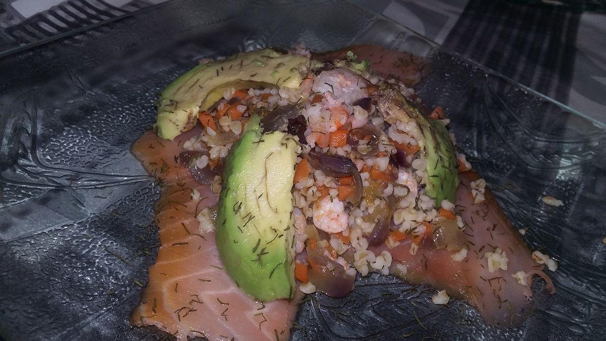 Salade de boulgour aux saumon