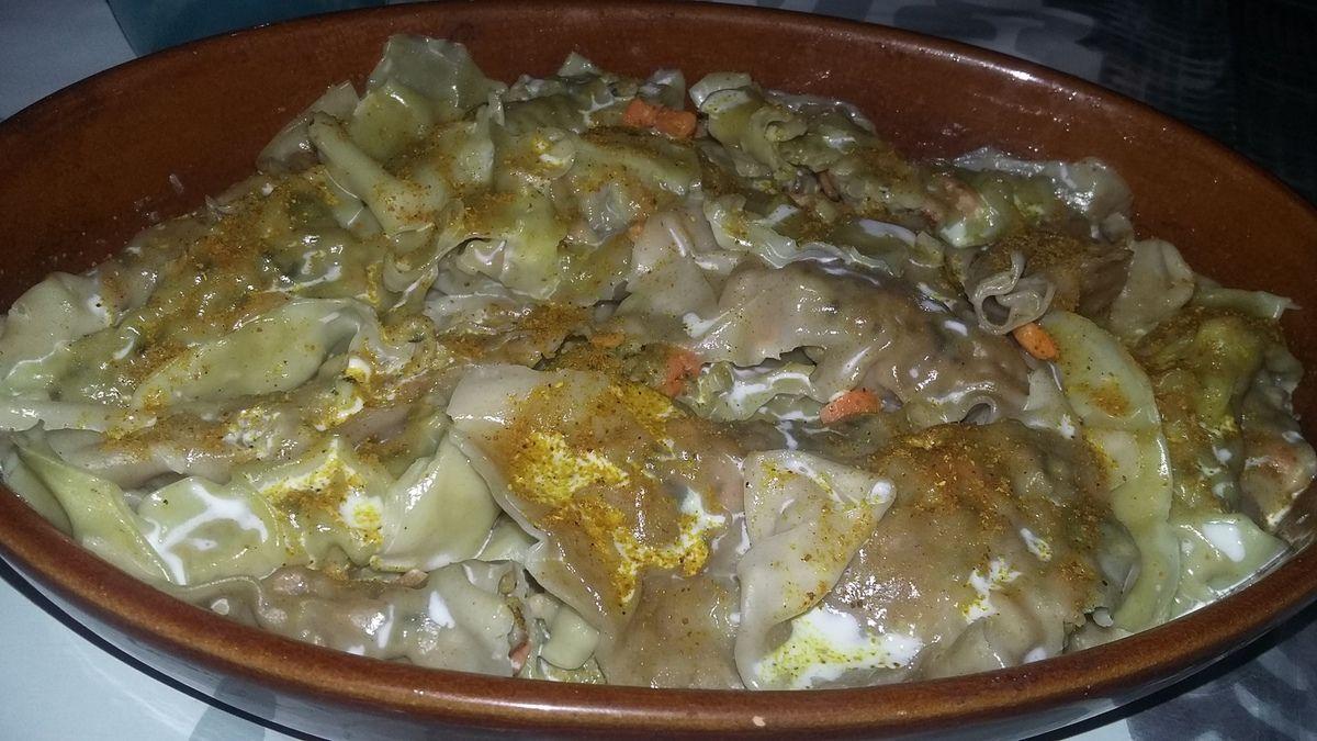 Raviolis au porc et au curry