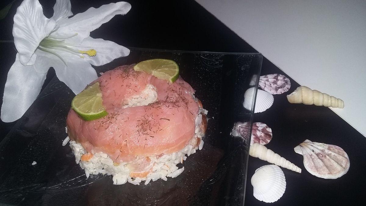 Charlotte de riz de la mer