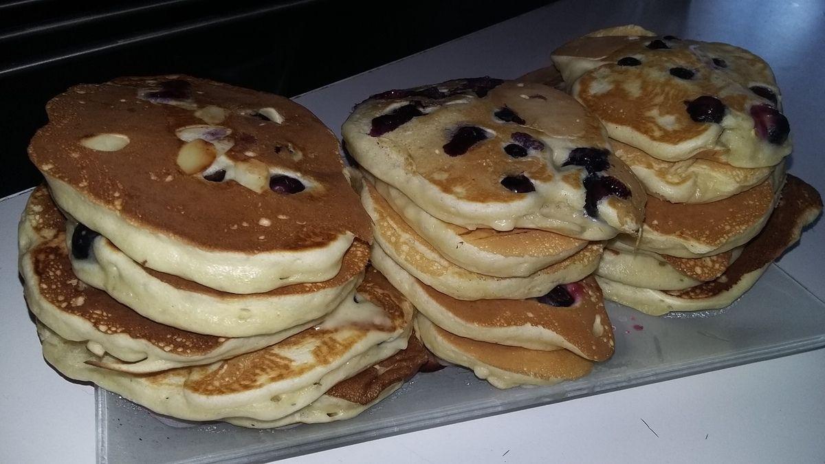 Pancakes a la myrtilles