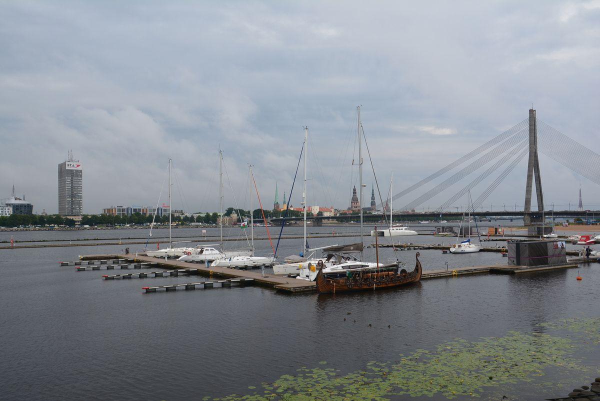 Dans le quartier de Kïpsala, la rive gauche de Riga avec ses belles maisons restaurées.