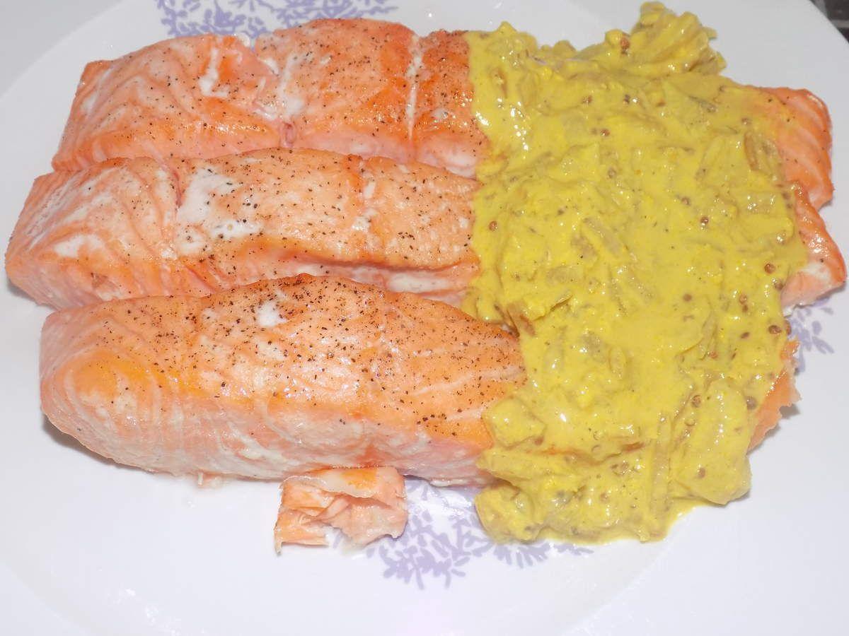 pav s de saumon curcuma moutarde dukan la cuisine de fanie. Black Bedroom Furniture Sets. Home Design Ideas