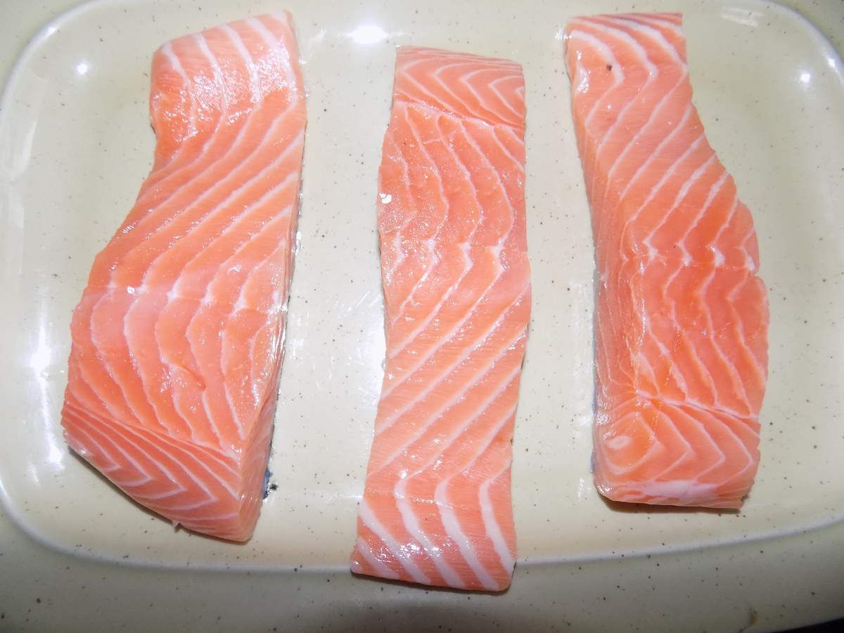 Pavé de saumon au coca dukan