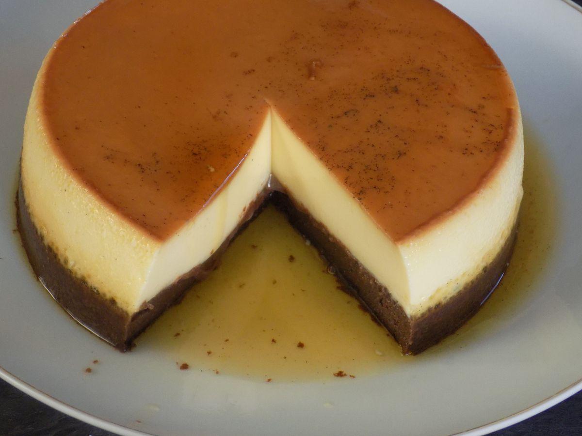 Cake-flan vanille/chocolat dukan