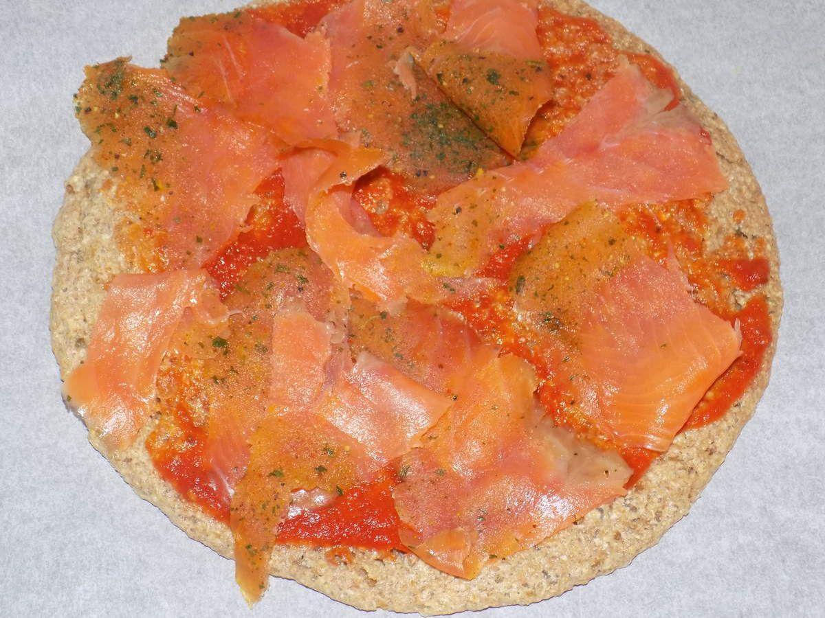 Pizza au saumon fumé dukan