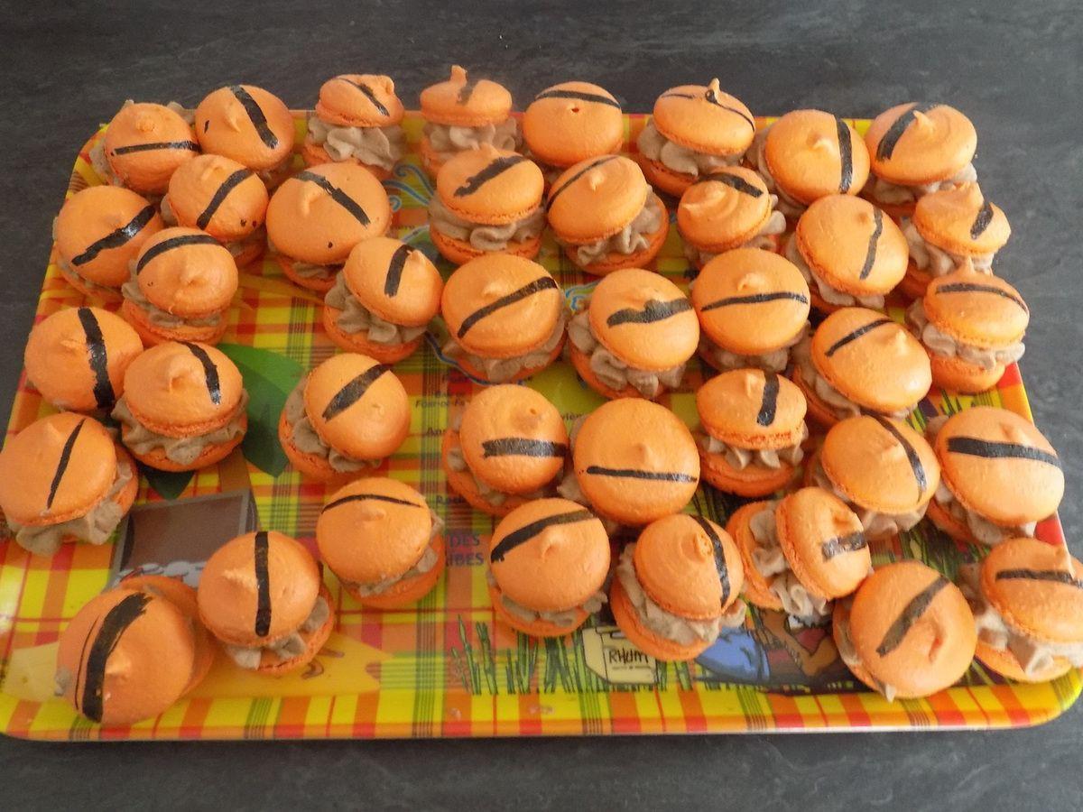 Macarons gianduja