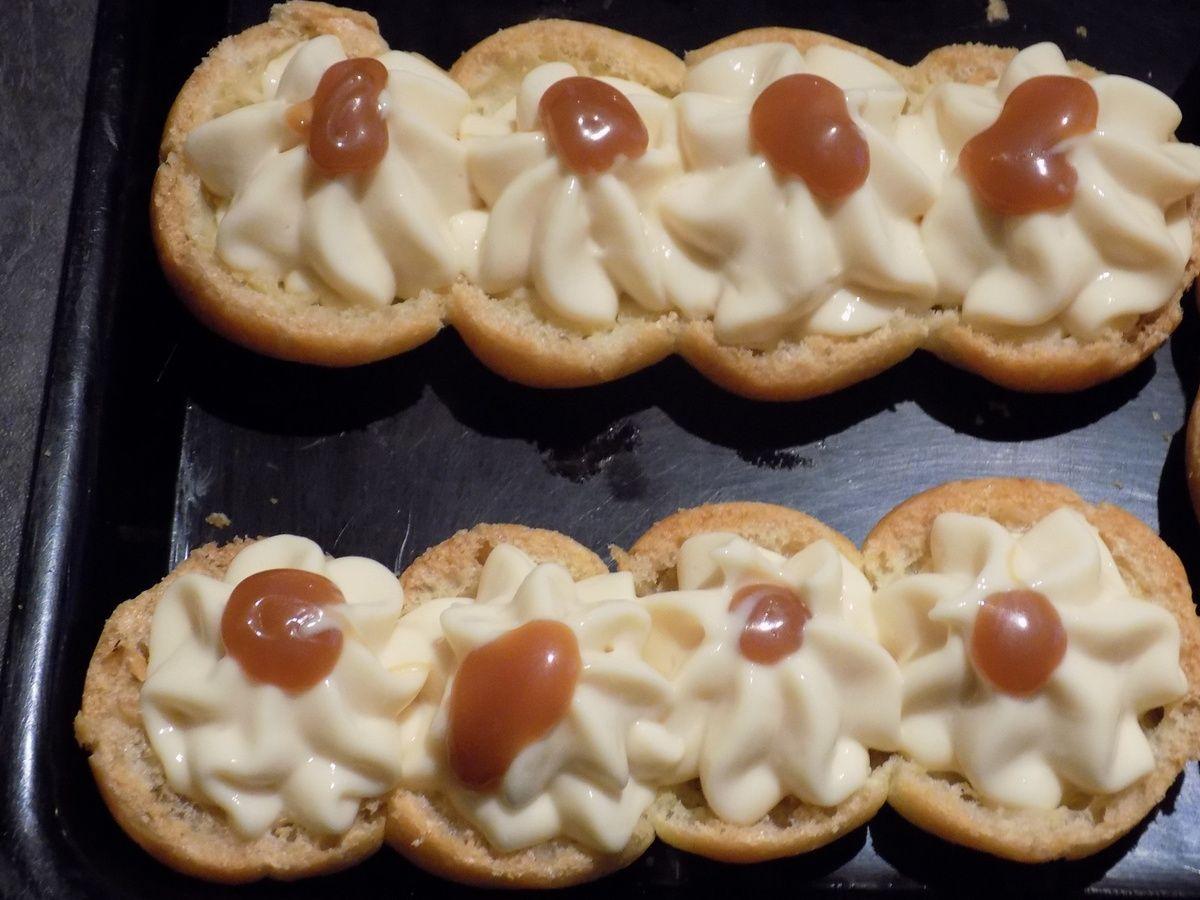 Eclair au caramel beurre salé et mascarpone