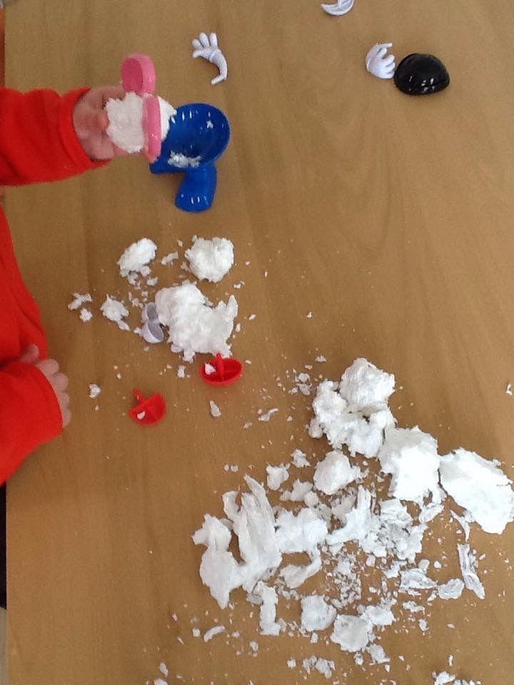 Fausse neige avec du savon Ivory (expérience)