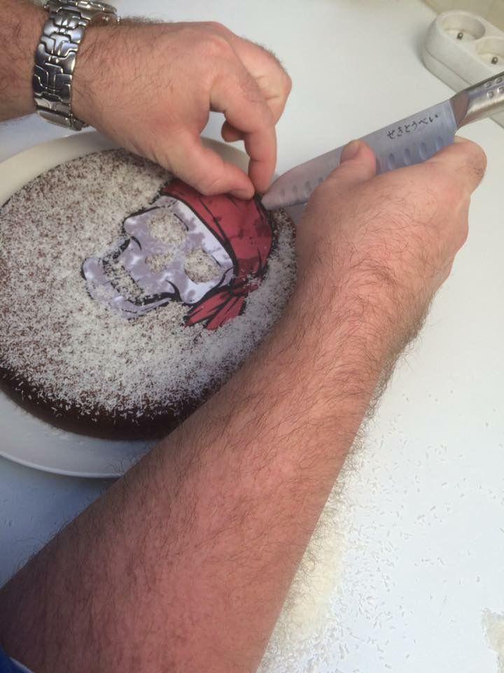 Gâteau pirate au chocolat au lait