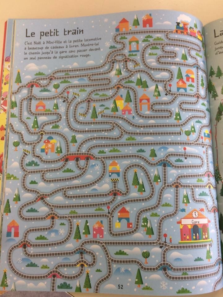Le grand livre des labyrinthes de Noël Editions Usborne