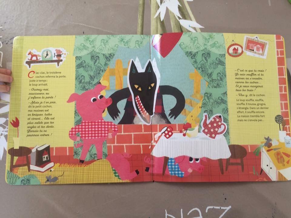 Mes contes préférés en stickers pailletés Les trois petits cochons Hatier jeunesse