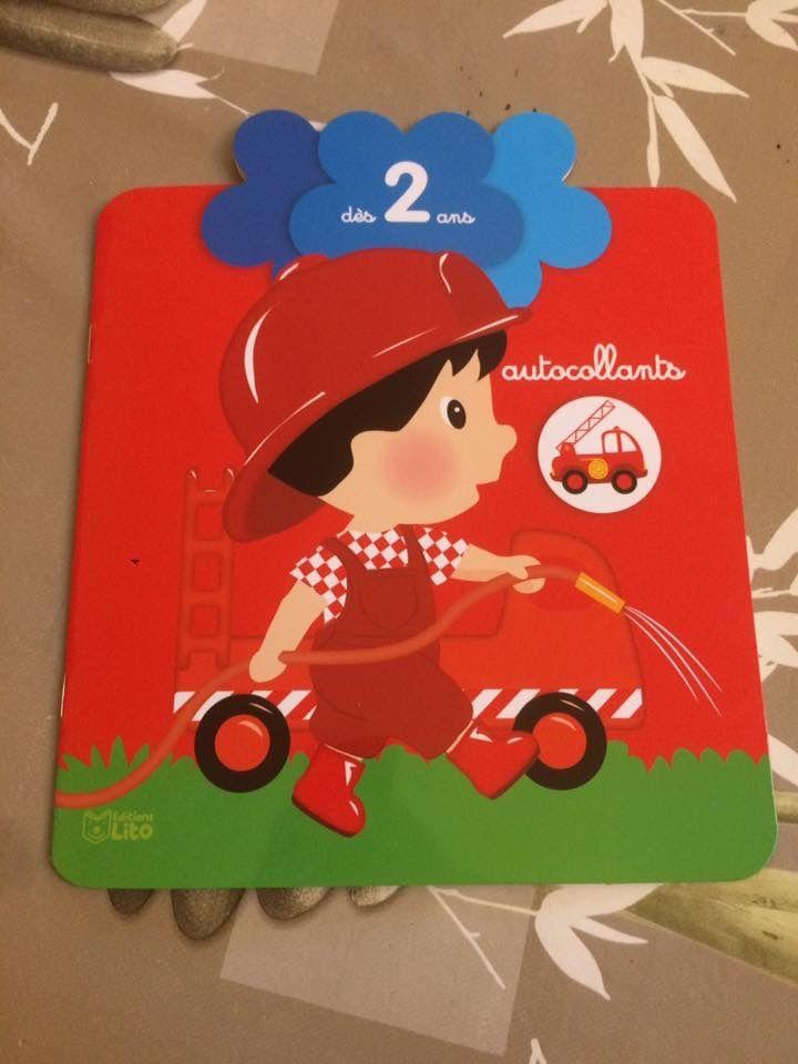 Autocollants &quot&#x3B;Petite fleur&quot&#x3B; Le Pompier Editions Lito