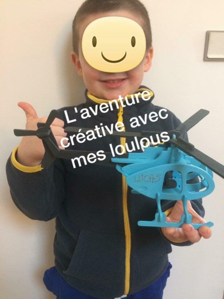 Puzzle 3D hélicoptère Truffaut