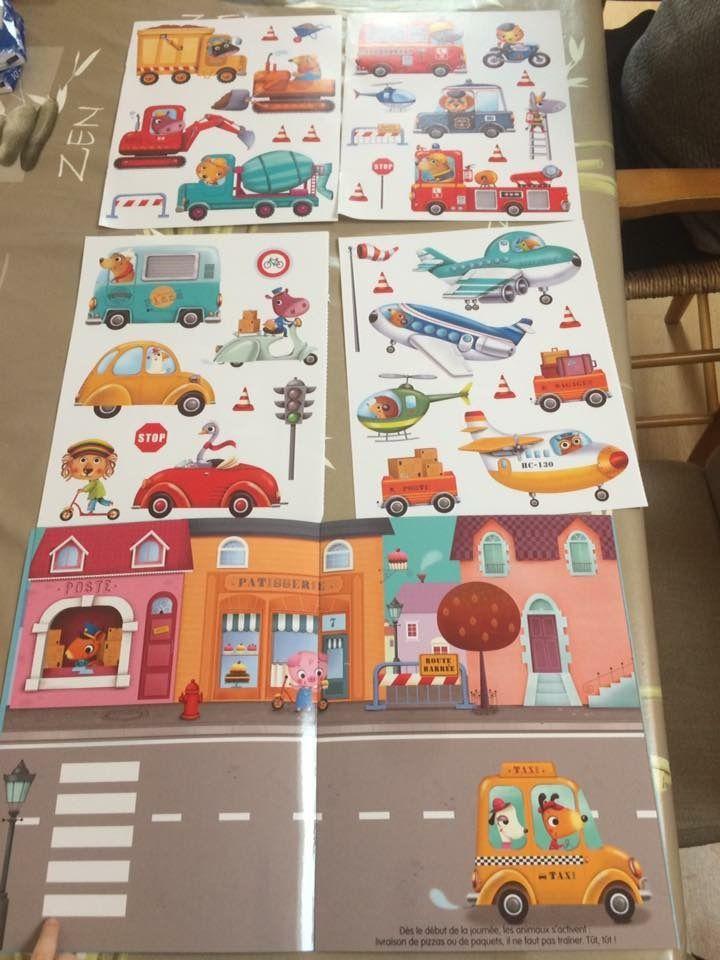 Mes grands autocollants en ville Editions Lito