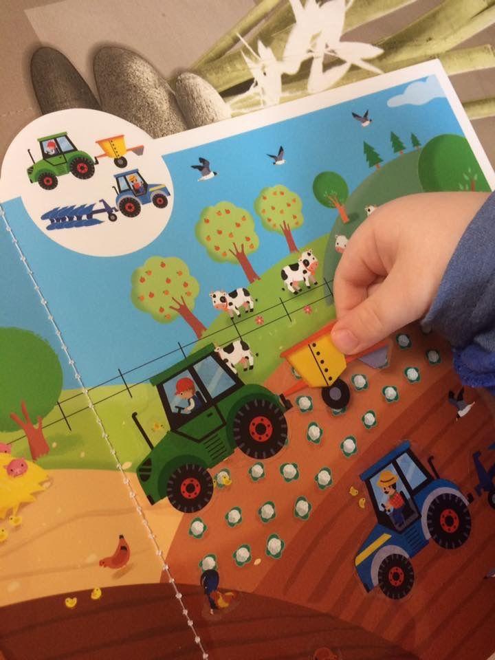 Mes véhicules préférés en autocollants Les tracteurs Editions Lito