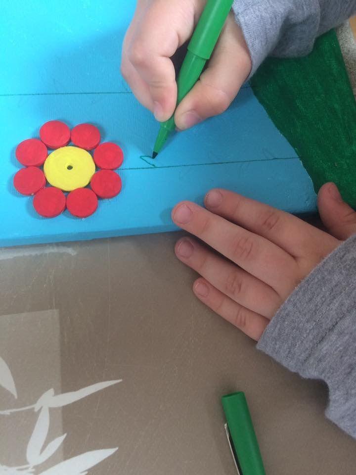 Toile de fleurs en boutons
