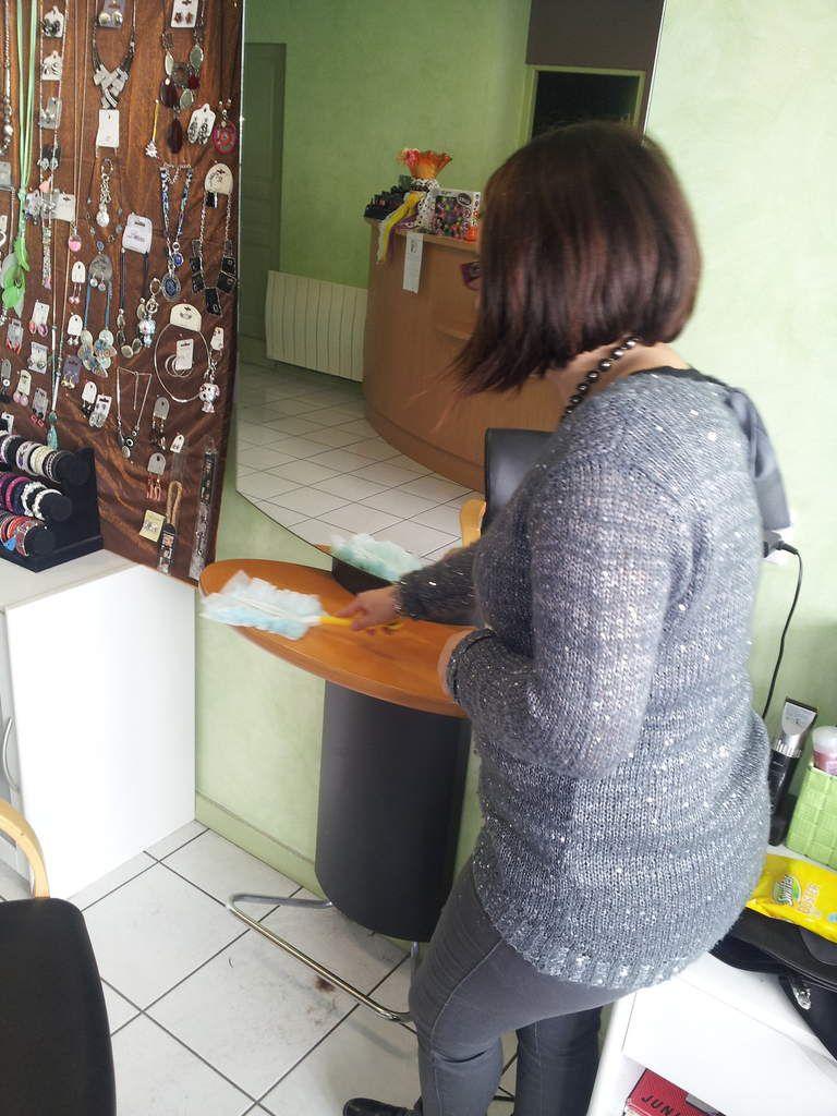 test dans mon salon de coiffure ....adopté !!!!!