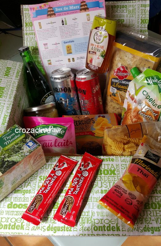 DEGUSTABOX : la box de mars