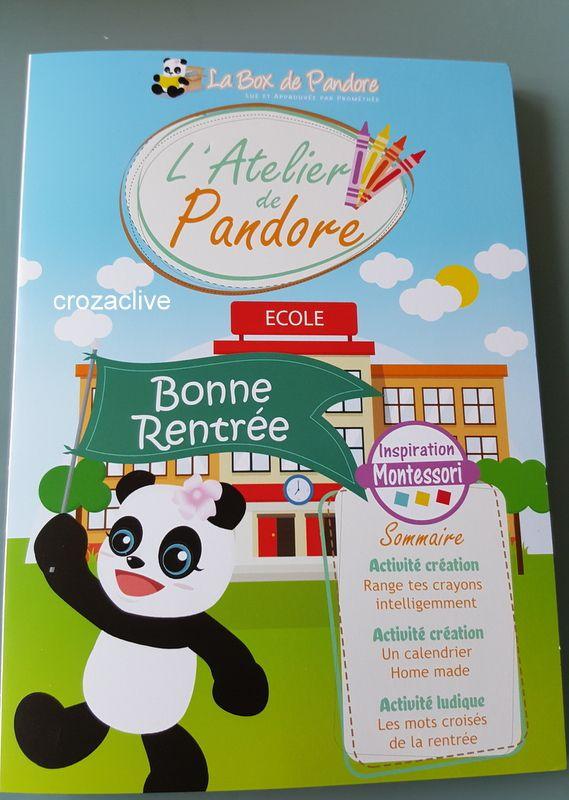 La Box de Pandore, septembre 2016