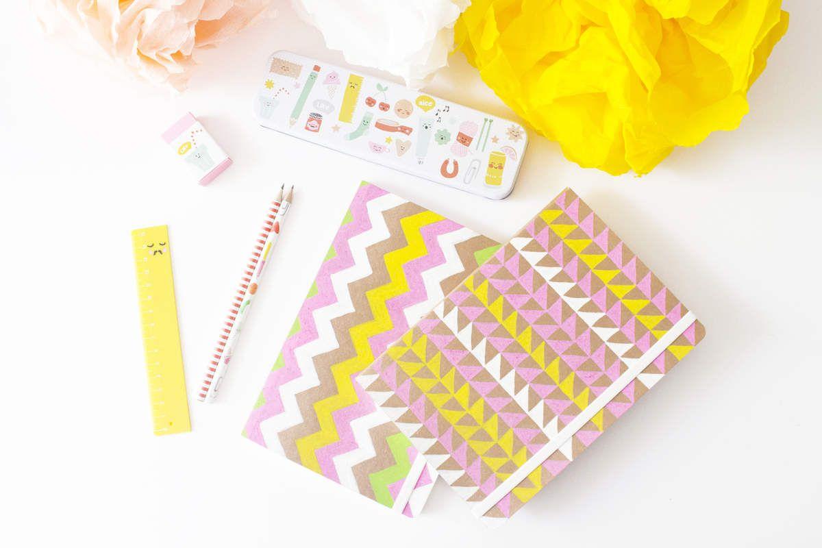 diy customiser ses cahiers le pot de crayon. Black Bedroom Furniture Sets. Home Design Ideas