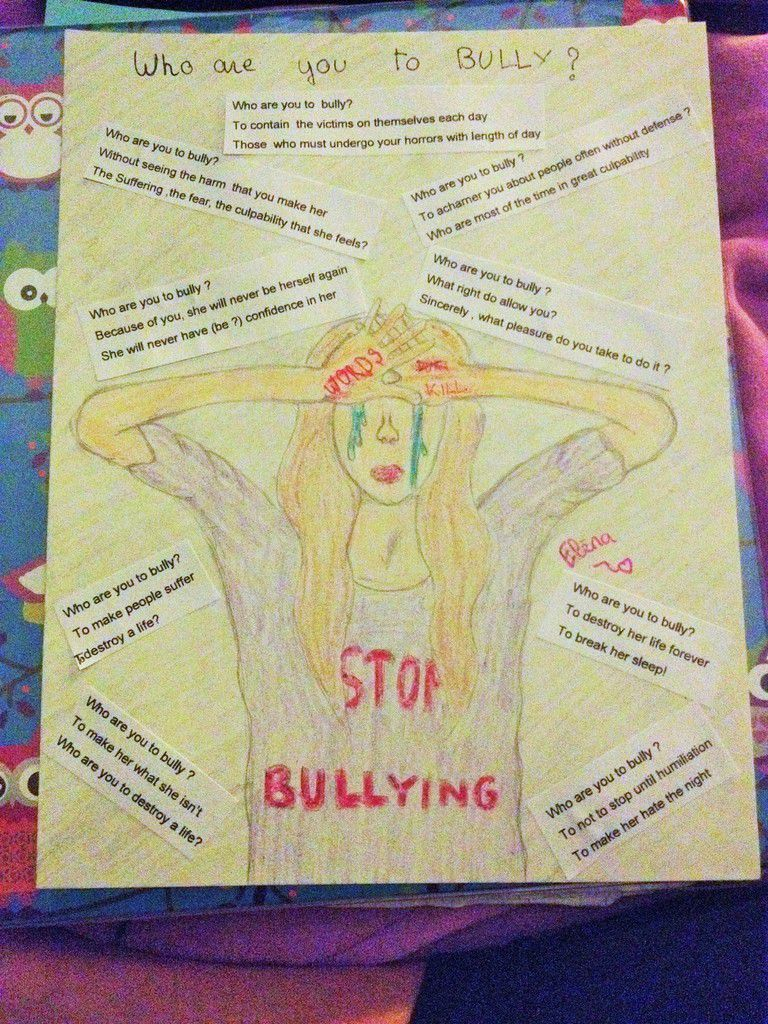 exemple de travail : Poème sur le harcelement (bullying, et oui encore !)