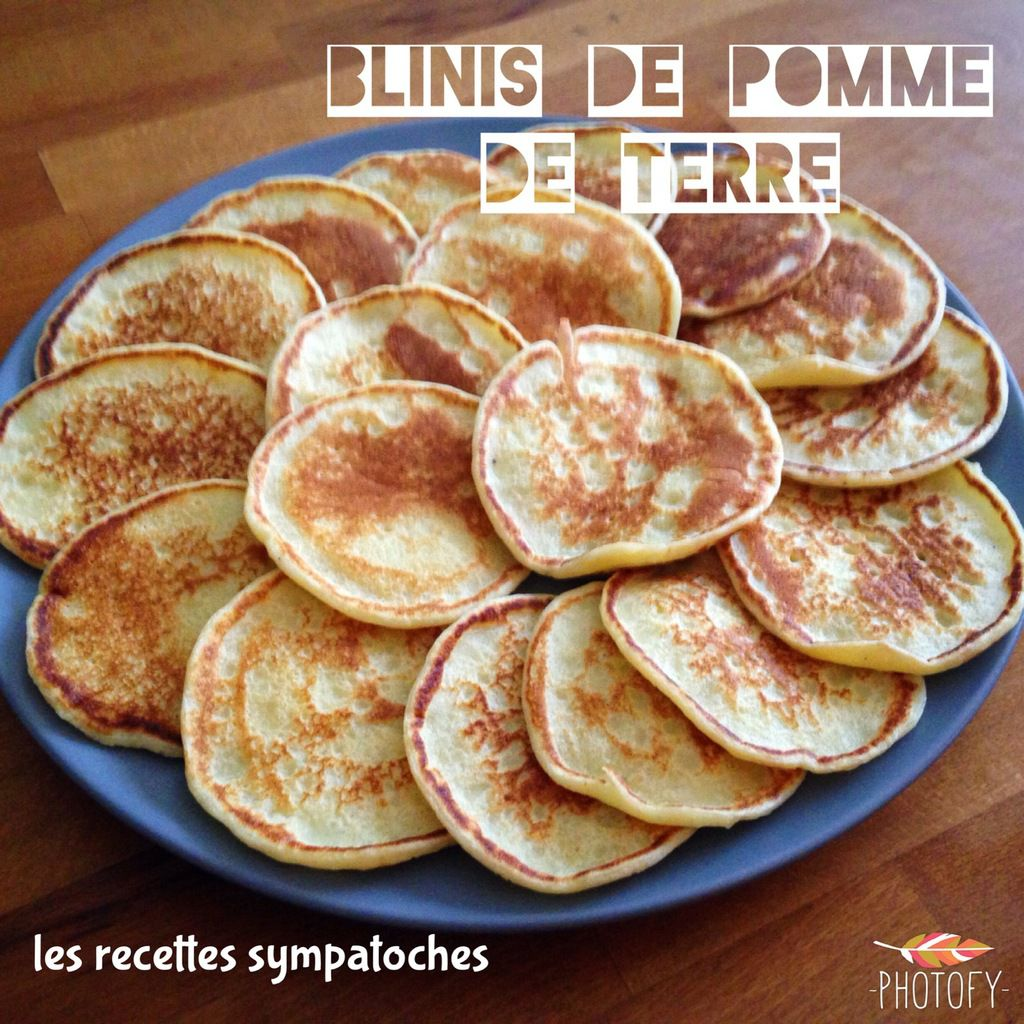 blinis pomme de terre les recettes sympatoches. Black Bedroom Furniture Sets. Home Design Ideas