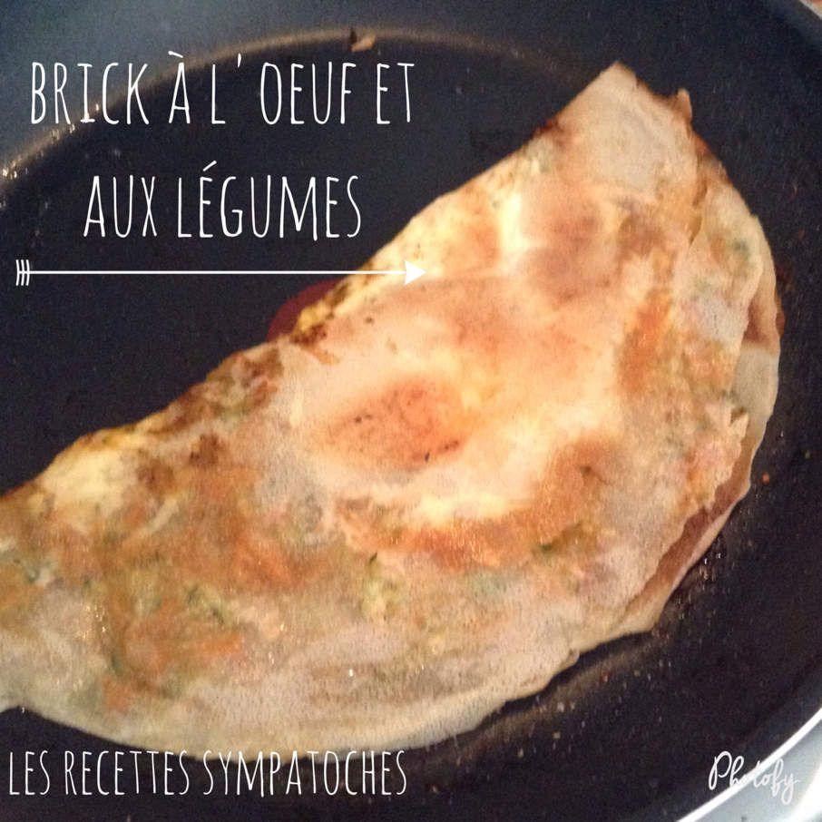 Brick à l'œuf et aux légumes