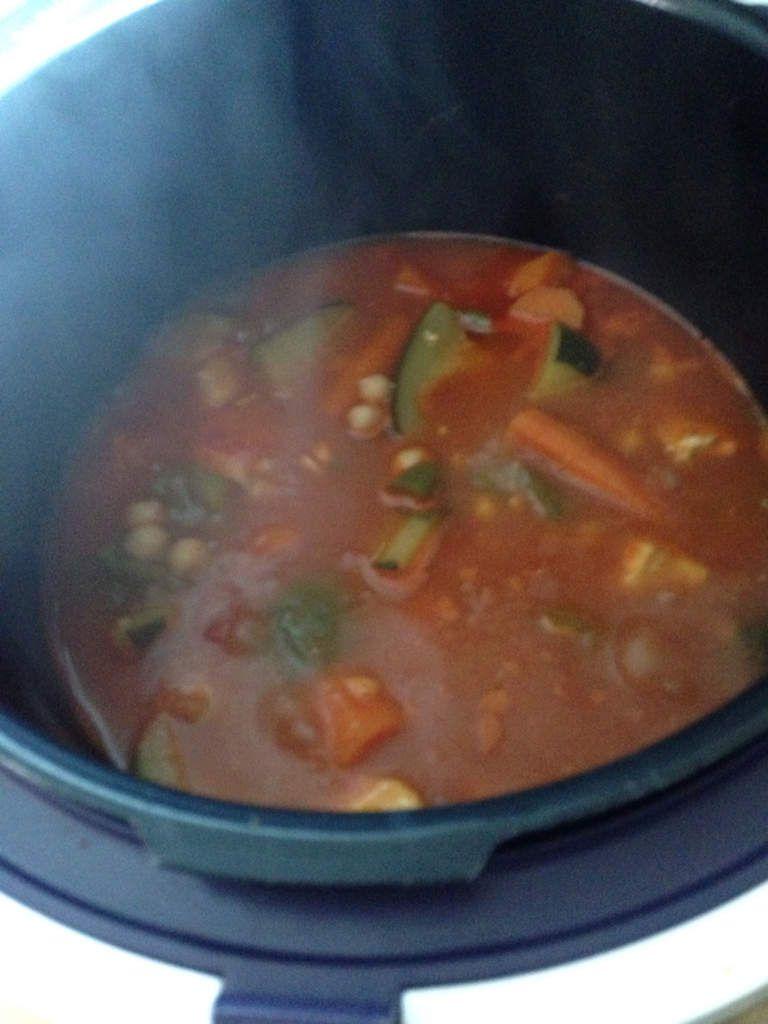 Poulet façon couscous au cookeo