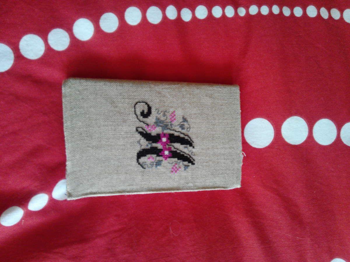 un petit carnet brodé pour un cadeau