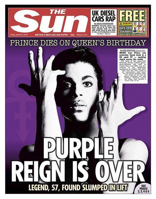 Prince : les Unes du monde entier lui rendent hommage