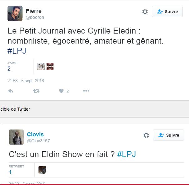 Le Petit Journal de Cyrille Eldin sur Canal critiqué sur les réseaux sociaux