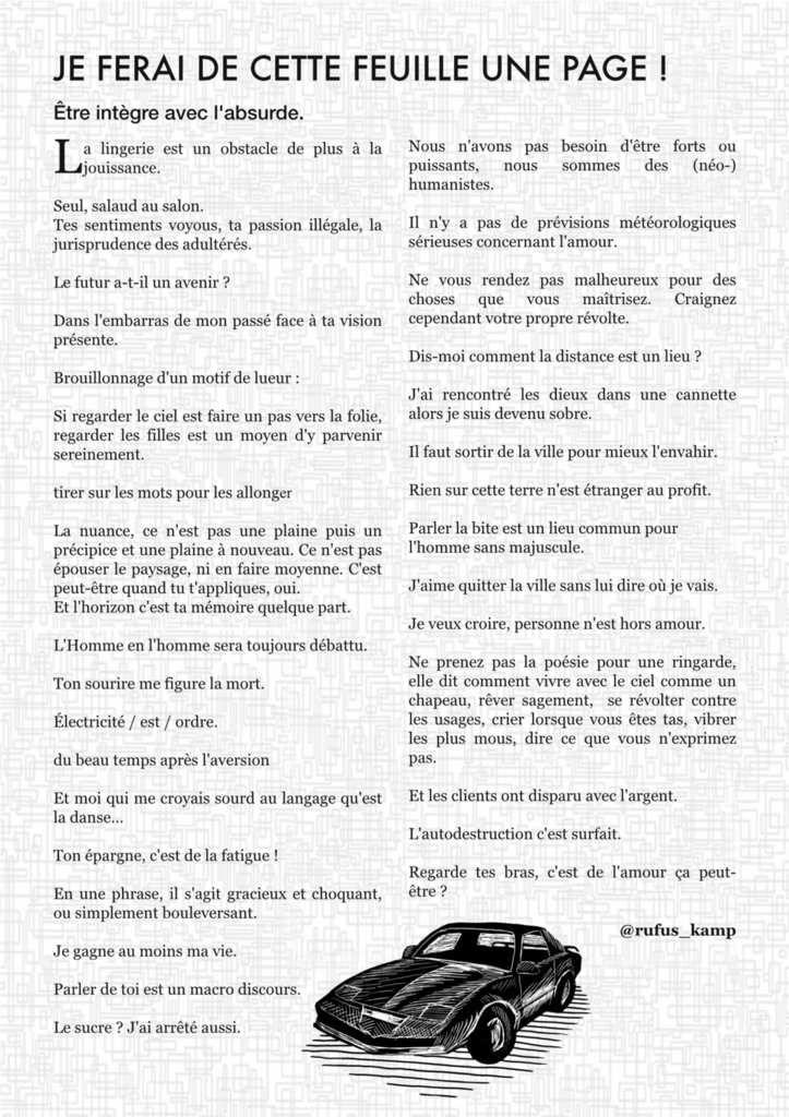 L'ATELIER N°21 - OCTOBRE 2016