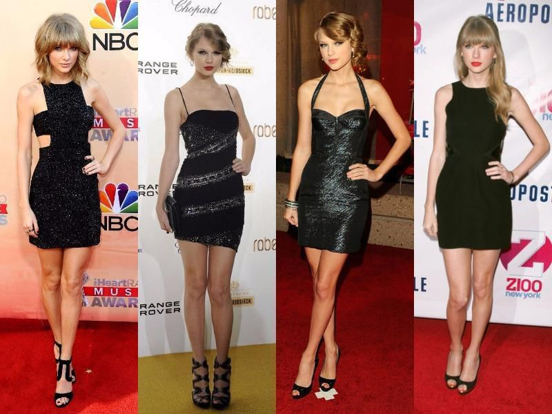 Taylor Swift tenue chic en noir