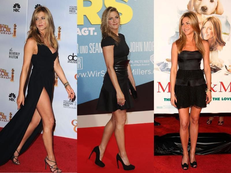 Jennifer Aniston en noir
