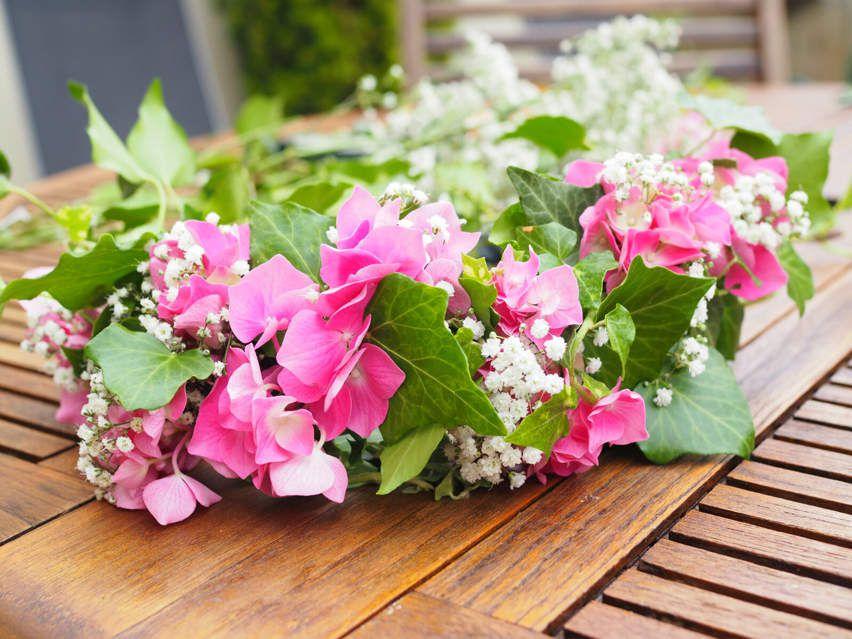 Diy couronne de fleurs poppie for Fleurs fraiches
