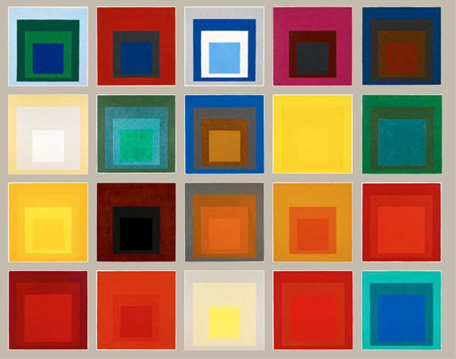 Décloisonnement GS/CP « Exposition des écoles de Biot » : La géométrie dans l'art (à la manière de Josef ALBERS)