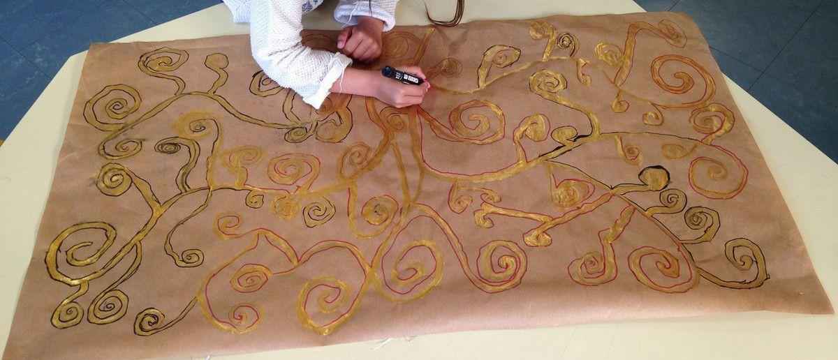 A la manière de Gustav Klimt (Graphisme : les spirales) GS