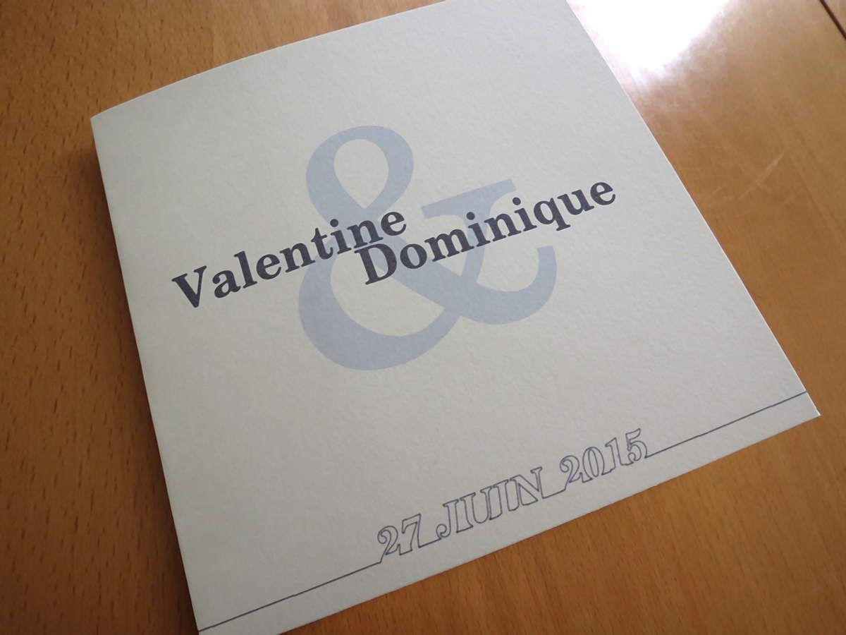 Faire-part de mariage &quot&#x3B;Fil bleu marine&quot&#x3B;