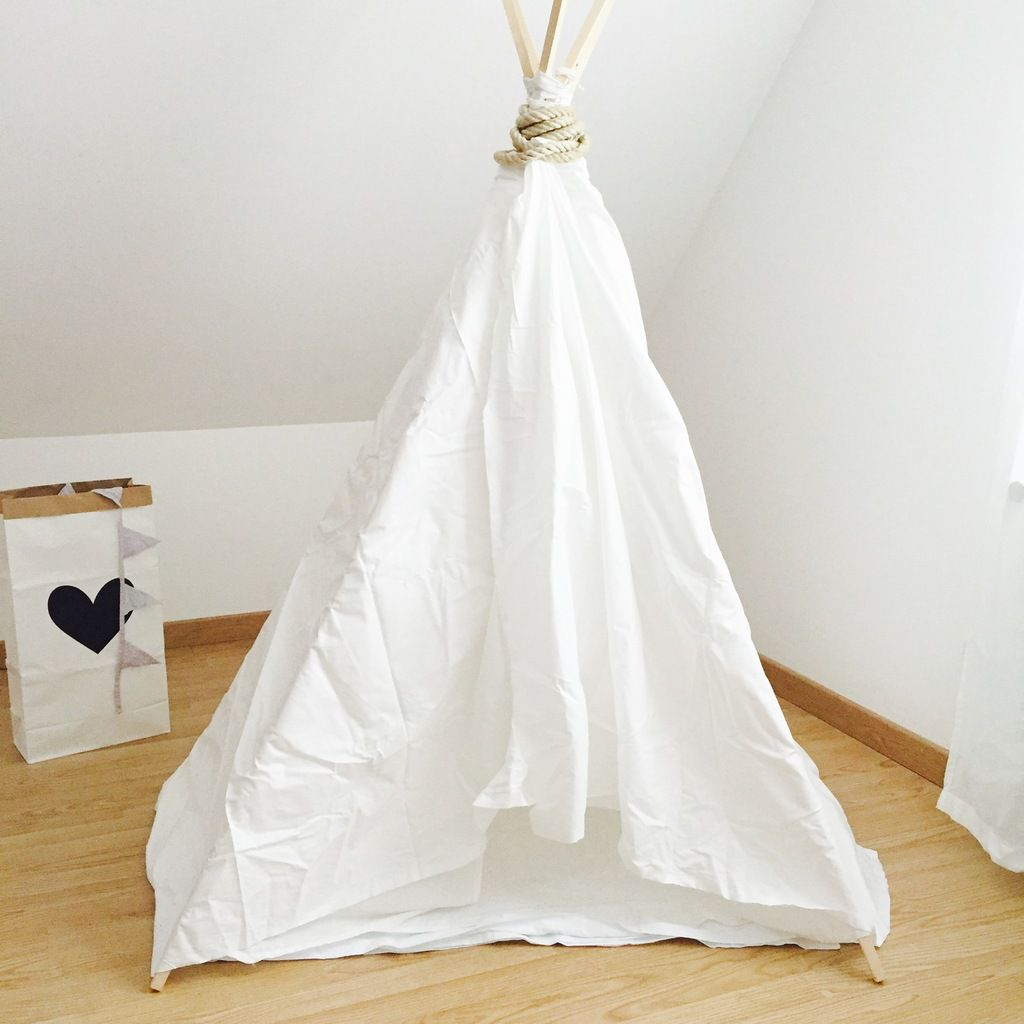 Tuto diy fabriquer son tipi mummy and babies - Comment faire un tipi ...