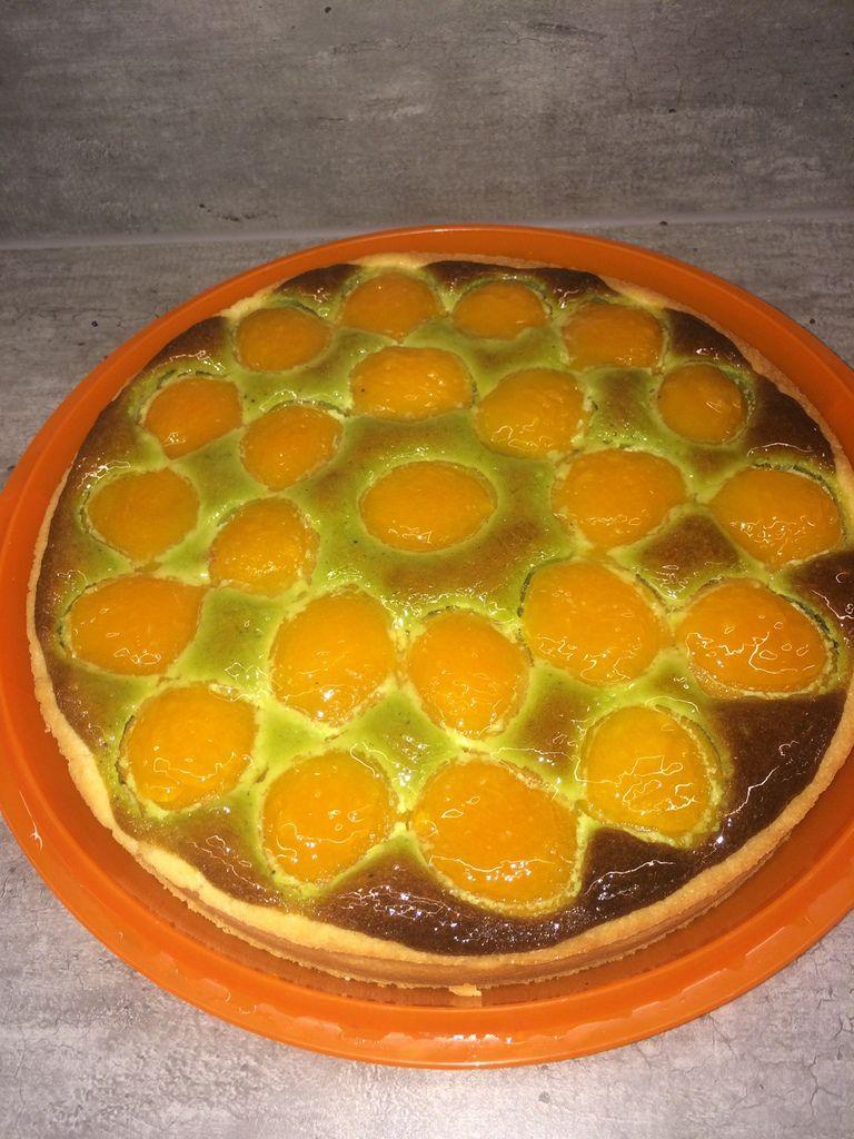 Tarte abricots / pistache