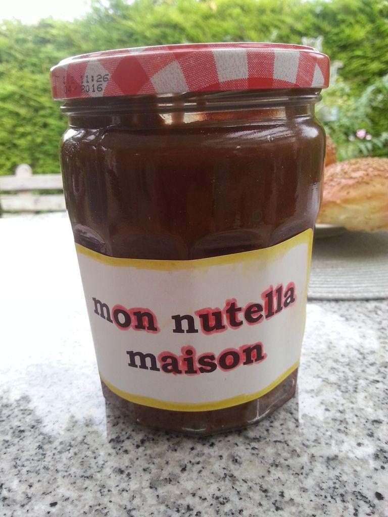 P te tartiner chocolat pralin noisettes fa on nutella le p lais de sylvie - Nutella maison lait concentre ...