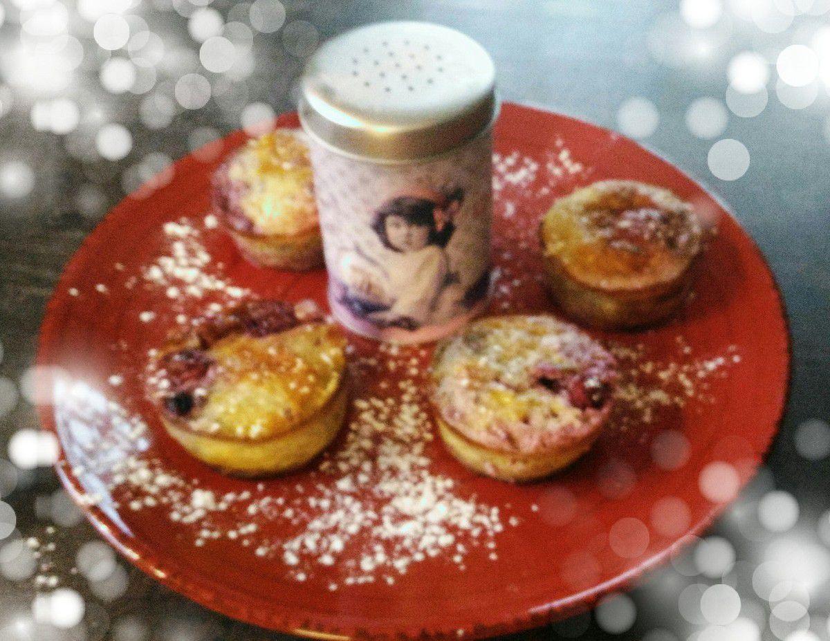 Muffins Bananes/Fruits rouges tout légers
