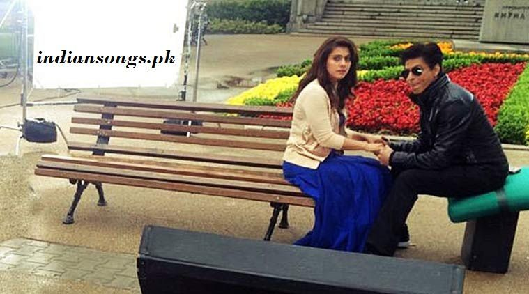 Kajol and Shahrukh Khan starring together on the set of Dilwale