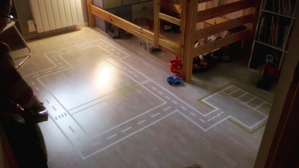 Masking tape : Un circuit DIY pour la chambre de vos loulous ...